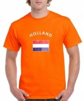 T shirts van vlag holland oranje