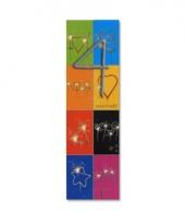 Taart decoratie sterretjes cijfer 4
