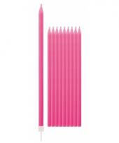 Taartkaarsjes in de kleur fuchsia roze 10x