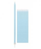 Taartkaarsjes in de kleur lichtblauw 10x
