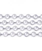 Tafeldecoratie transparante kristal slinger