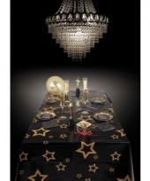 Tafelkleed zwart met gouden sterren