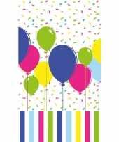 Tafellaken tafelkleed met gekleurde ballonnen 120 x 180 cm