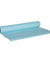 Tafelversiering luxe tafelloper lichtblauw