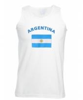 Tanktop met argentinie vlag print