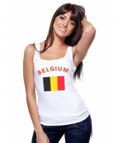 Tanktop met belgische vlag print voor dames