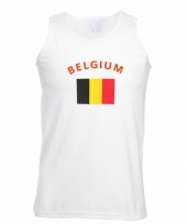 Tanktop met belgische vlag print