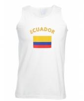 Tanktop met ecuador vlag print
