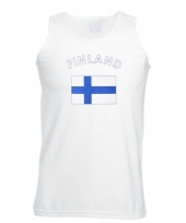 Tanktop met finland vlag print