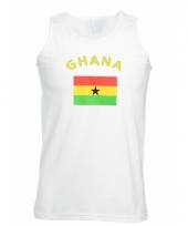 Tanktop met ghana vlag print