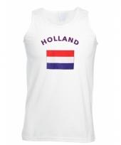 Tanktop met hollandse vlag print