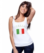 Tanktop met italiaanse vlag print voor dames
