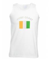 Tanktop met ivory coast vlag print