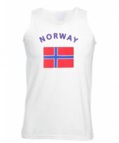 Tanktop met noorse vlag print