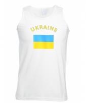 Tanktop met oekraine vlag print