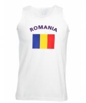 Tanktop met romeense vlag print