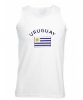 Tanktop met uruguay vlag print
