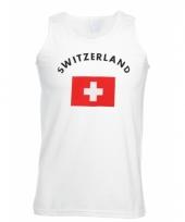 Tanktop met zwitserse vlag print