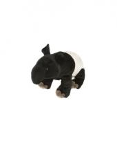 Tapir knuffel met kraalogen 30 cm