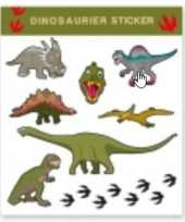 Tattoo stickers dinosaurussen 8 stuks