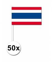 Thailand zwaai vlaggetjes 50x
