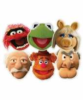 The muppets feestmaskers 6x