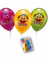 Thema clown ballonnen 6 stuks