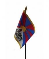 Tibetaanse landenvlag op stokje