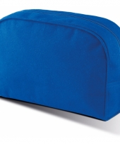 Toilet reistasje blauw canvas 28 cm