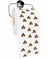 Toiletpapier met chocolade ijsjes emoticon