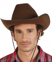 Toppers bruine cowboyhoed rodeo vilt voor volwassenen