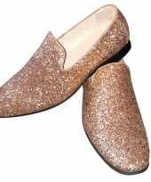 Toppers gouden glitter disco instap schoenen voor heren