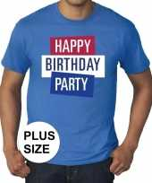 Toppers grote maten toppers happy birthday party heren t-shirt officieel