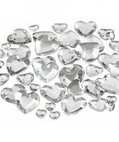 Transparante hartjes diamanten 252 stuks