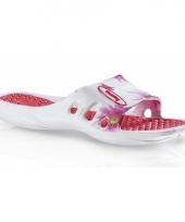 Trendy slippers met roze bloemen voor dames