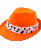 Tribly hoedje in oranje met bont randje