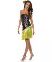Tropisch jurkje met bloemen ketting