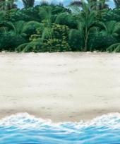 Tropische strand muurdecoratie 12 2 m