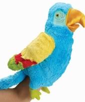 Tropische vogel handpop 23 cm