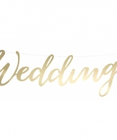 Trouwerij banner wedding goud