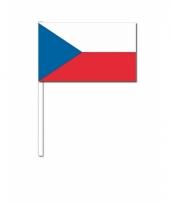 Tsjechie vlaggetje op een stokje
