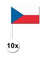 Tsjechie zwaai vlaggetjes 10 stuks