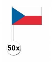 Tsjechie zwaai vlaggetjes 50 stuks