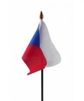 Tsjechische landenvlag op stokje