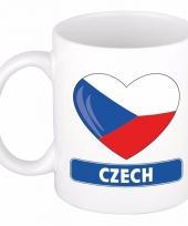 Tsjechische vlag hartje koffiemok 300 ml