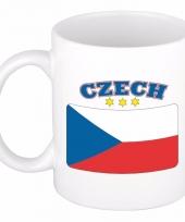 Tsjechische vlag koffiebeker 300 ml