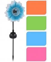 Tuinbloem met led lampje blauw 81 cm