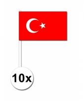 Turkije zwaai vlaggetjes 10 stuks