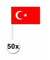 Turkije zwaai vlaggetjes 50 stuks