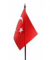 Turkse landenvlag op stokje